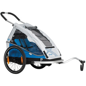 "XLC Duo8teen BS-C07 Trailer para niños 20"", blue/silver"